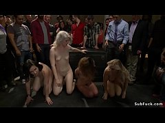 Public anal sex for four slaves