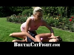 Angry cheated wife shows slut mistress some res...
