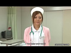 Stunning Japanese nurse gets creampied after be...