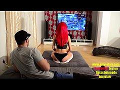 Redhead german gamer girl Amy Starr hardcore fuck