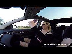 Naked masturbating me in public in the car