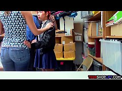 Asian MILF mom saves her teen offspring from th...