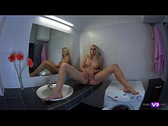 TmwVRnet.com - Katy Sky - Blonde orgasms on bat...