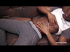 Black African Twink Beats Off