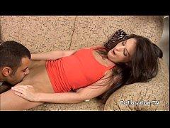 Beginner model being seduced by experinced man