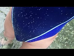 Ray Ayanashi japanese slave crossdresser swimsuit Water play1