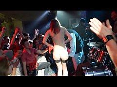 Strip on public show
