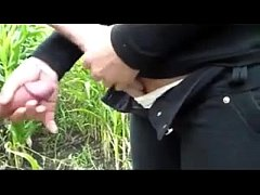 Giving A Handjob Outside At A Farm In Russia