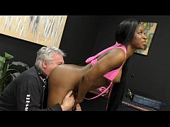 Jasmine Webb makes an Old White Pervert Lick He...