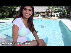 MIA KHALIFA - In A Bikini, Getting Interviewed,...