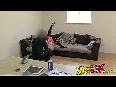 FakeAgentUK Brit girl gets spanked, fingered an...