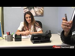August Ames plays with dentist tools with a pat...