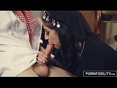PORNFIDELITY Arab Girl Nadia Ali Punished by White Cock