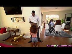 Petite ebony teen loves to fuck a giant cock