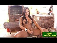 Brazilian tgirl Aninha Smith solo