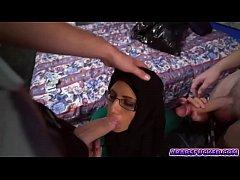 Precious hottie Arab stroking cock