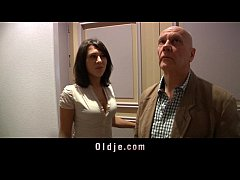 Kinky old man humps two crazy nympho girl in th...
