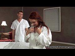 MILF Janet Mason drilled on massage table
