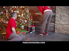 FamilyStrokes - Fucking My Stepdad On Christmas...