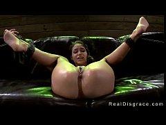 Blindfolded babe Jasmine Caro in bdsm rough fuc...