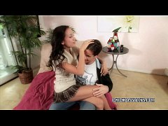 Slutty coed Amia Miley is getting her teen puss...