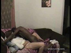 Interracial home sex video