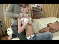 Skinny Blonde Russian Teen Analized