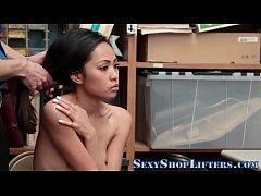 Hot teen shoplifter bangs
