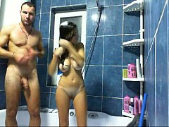 Hottalicia taking a Shower with her boyfriend
