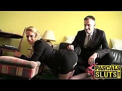 Hot Sasha Steele enjoyed getting her pussy poun...