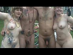 The Brighton 2015 Naked Bike Ride Part2 [Warnin...