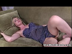 Sleeping Mandy Lou wakes up to a Big Black Dick...