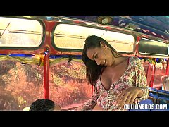 thumb sexy latina ama  teur on bus