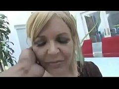 Blonde milf getting an anal creampie bbc
