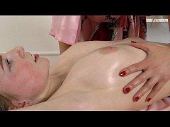 Hot oily massage of virgin pussy