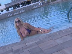 Brazzer Blonde shows her beautiful TITS in a PU...