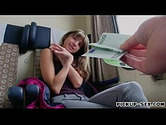 Cute teen Gina Gerson screwed for money