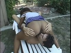 Superior black chick with perfect body rides wh...