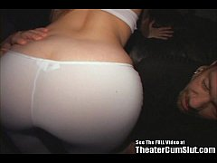 Whacked Blonde Banged In Movie Theater