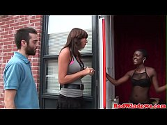 Black amsterdam hooker gets doggystyled