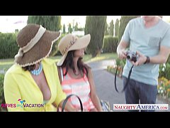 Busty wives Ava Addams and Eva Notty sharing a ...