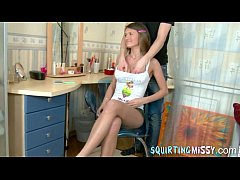 squirting teen soaking her bedroom