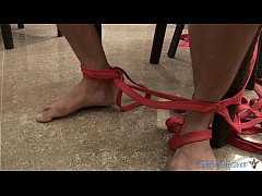 thumb threesome ladyb  oy bondage action on ion on