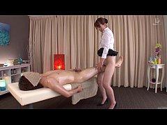 Subtitled traditional Japanese bottomless massa...