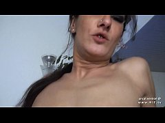 Amateur small titted french slut hard banged an...