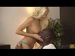 BLACK4K. Incredible interracial love of blonde ...
