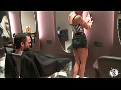 LECHE 69 Cool tattoo hairdresser prefers cock t...