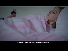FamilyStrokes - Cuddling and Fucking Scared Ste...