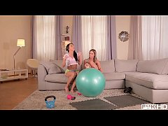 Post Workout Threesome with Fit Babes Athina & ...