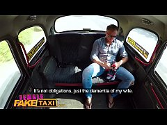Female Fake Taxi Horny slim blonde driver in sw...